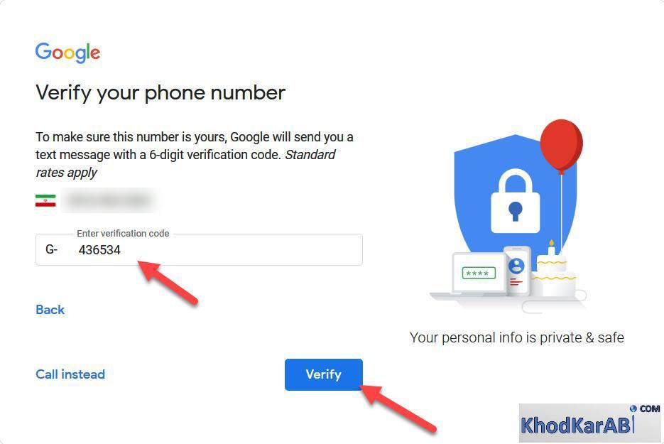 کد اعتبار سنجی گوگل